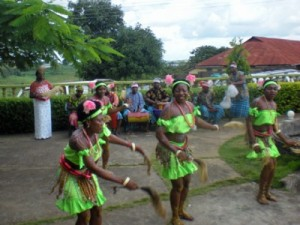 Nkwa Umuagbogho Dance Group performers in action
