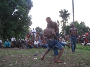 Wrestling contest in Afikpo