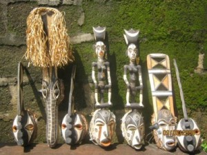 African masks from Afikpo, Ebonyi State, Nigeria