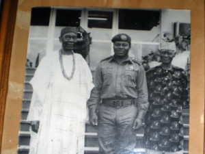 Sir Francis Akanu Ibiam (right) with Nigeria's first Premier, Dr. Nnamdi Azikiwe (left)